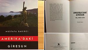 Amerika'daki Giresun Kitabı Çıktı