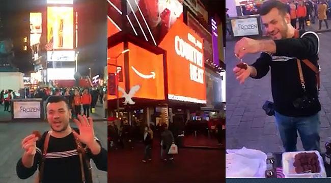 Times Square'de Çiğköfte Ziyafeti