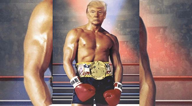 Trump Rocky Fotoğrafını montajladı