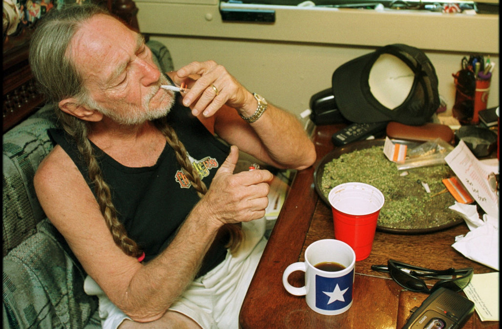 Willie Nelson says he's given up marijuana for his