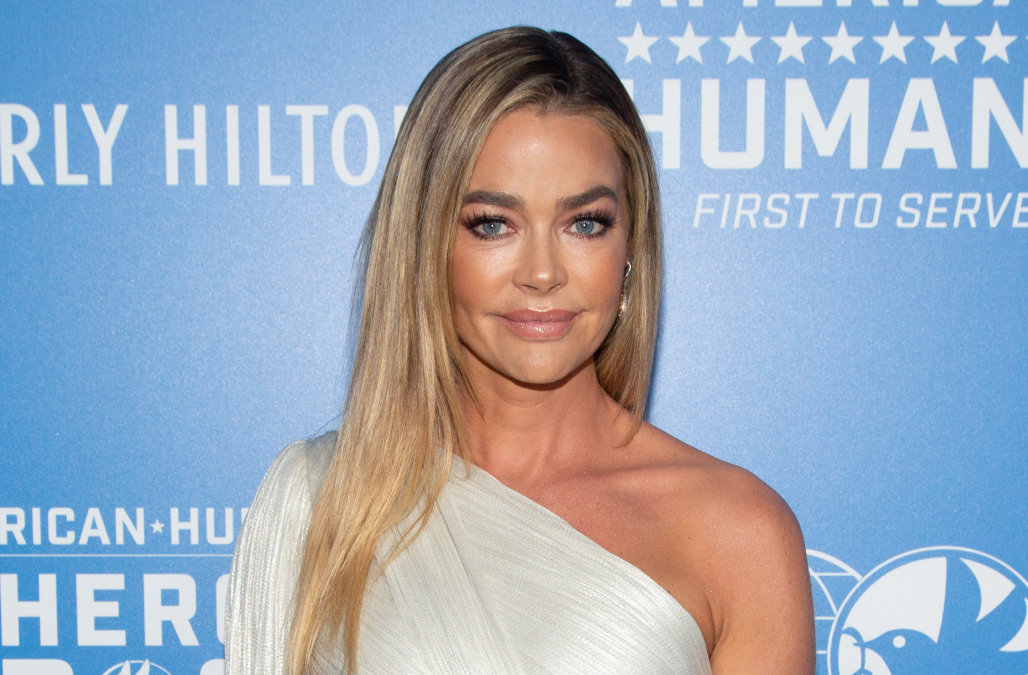 Denise Richards shares rare photo with all three d