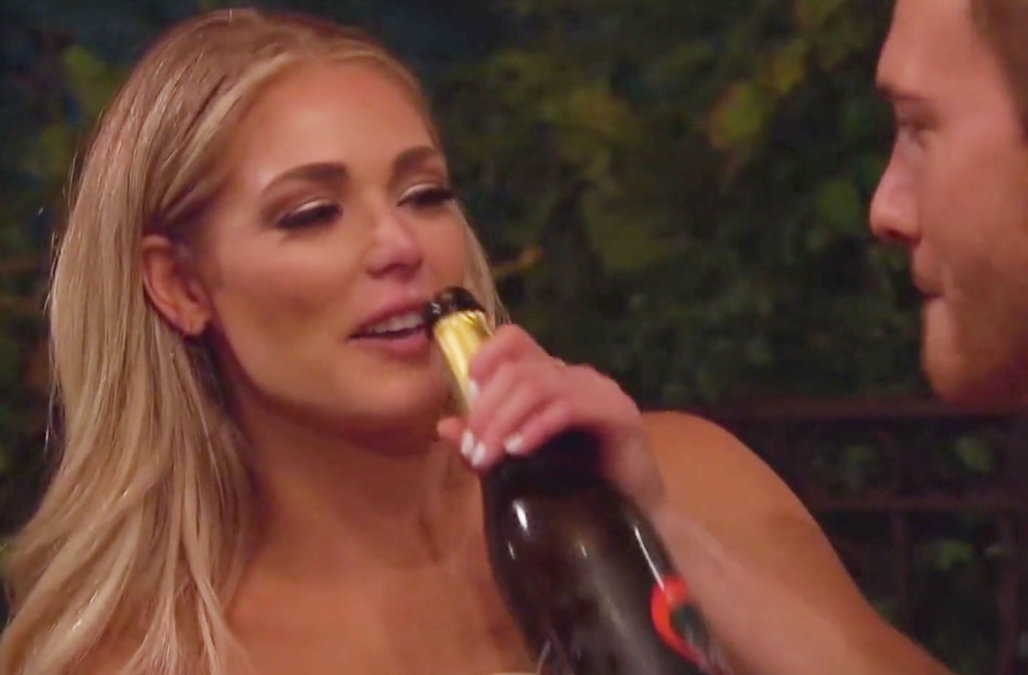 Champagne explosion goes embarrassingly wrong on '