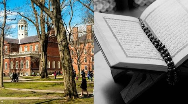 Harvard Üniversitesi Girişinde ki Kur'an Ayeti