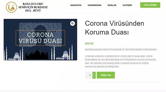 20 liraya koronavirüs duası