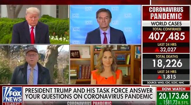 Dr Öz Trump ile Fox News'teki Programa Katıldı