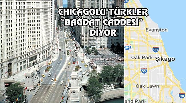 Chicago'nun Bağdat Caddesi: Michigan Ave