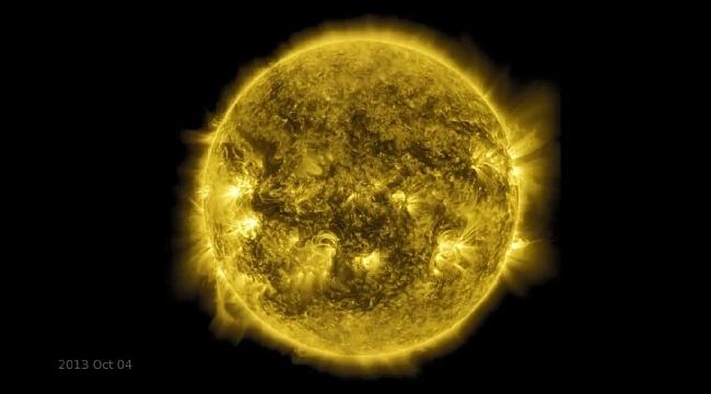 NASA Güneş'in son 10 yılını filmleştirdi
