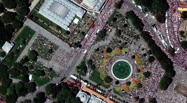 Uydudan Çekilen Ayasofya Fotoğrafları