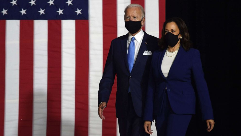 Biden and Harris make 1st appearance as historic D