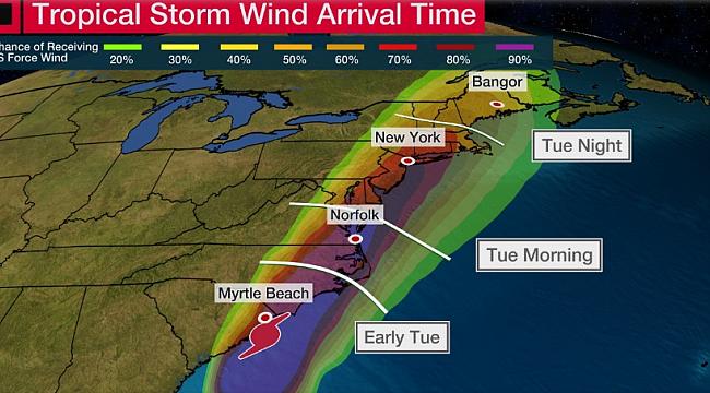 N.Carolina'da Kasırga Uyarısı
