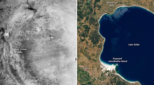 NASA'dan Salda Gölü paylaşımı...