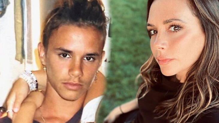 Victoria Beckham ile oğlu Romeo'nun benzerliği şaş