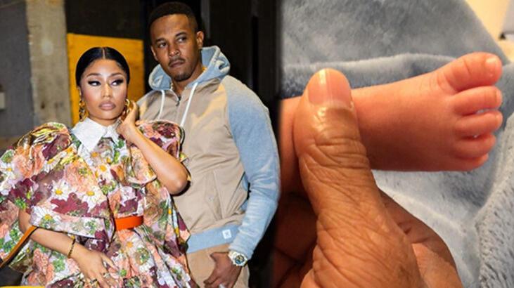 Nicki Minaj bebeğinin ilk fotoğrafını paylaştı