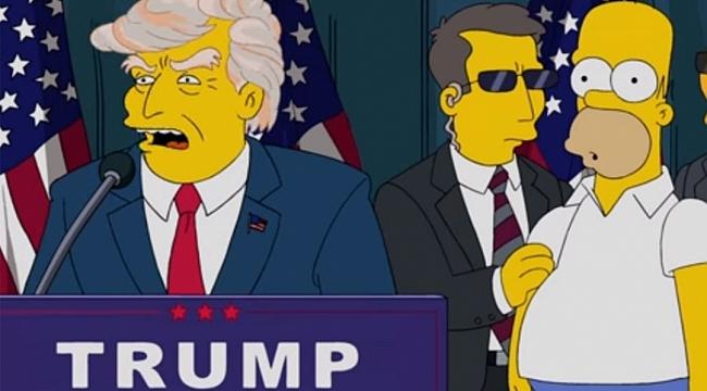 "The Simpsons' dan ""Trump'a Oy Vermeyin""Mesajı"