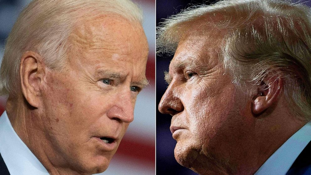 Biden projects image of governing while Trump stay