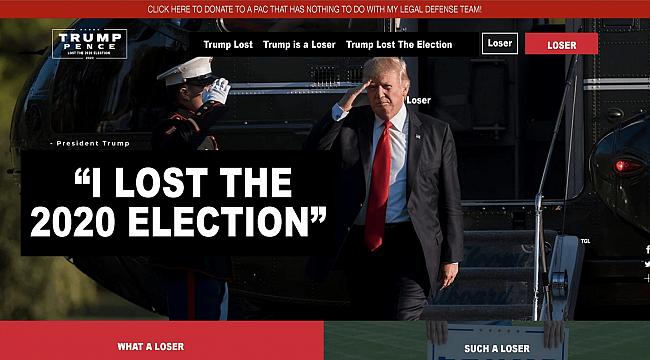 Komedyenler, Trump'a Sahte Seçim Sitesi Hazırladı