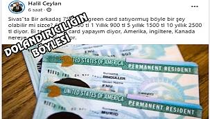 Green Card'ın Sahtesini Yaptılar