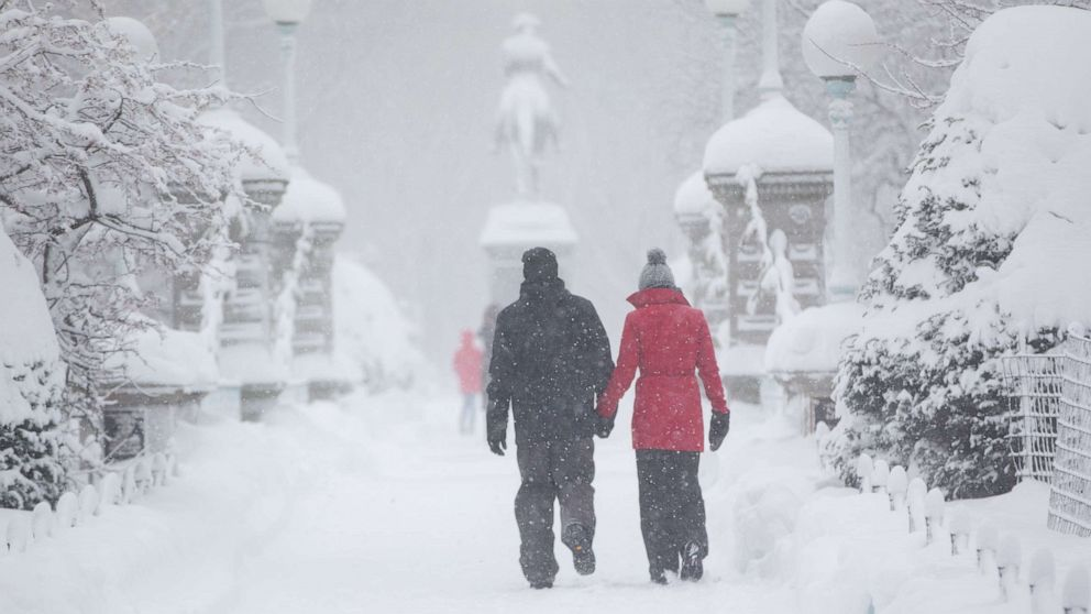 Blast of cold air grips Northeast with fresh snow