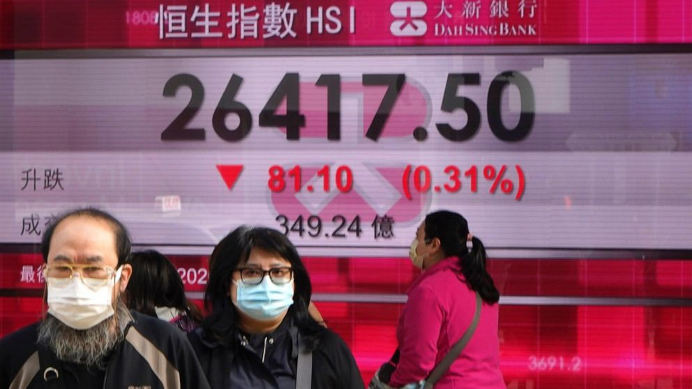 Stocks slump worldwide on worries about new virus