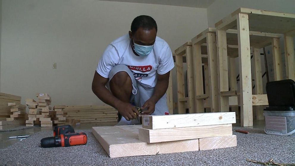 Americans across the country build desks for stude