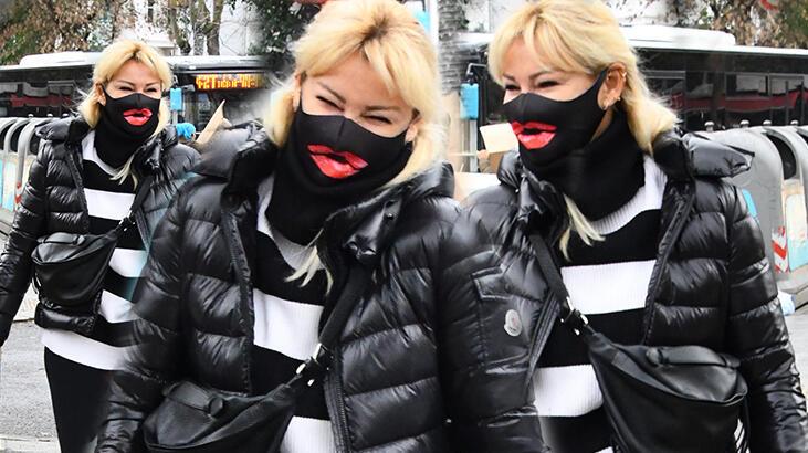 Pınar Altuğ'un maskesi dikkat çekti