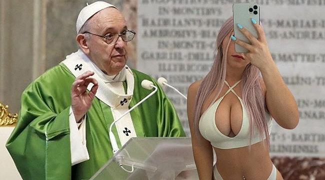 Papa Francis Yine Bir Bikini Mankenini Beğendi