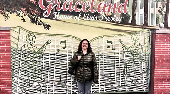 Esra Öziskender Elvis Presley'in Evi Graceland'de