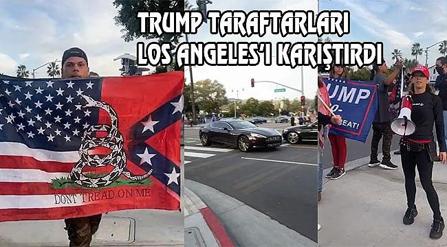 Los Angeles'ta Trump Taraftarları Sokakta