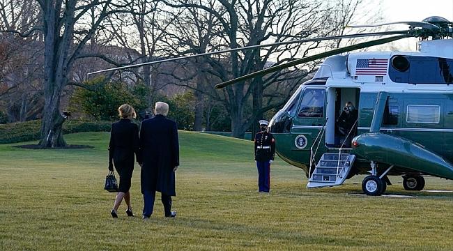 Trump Beyaz Saray'dan Ayrıldı