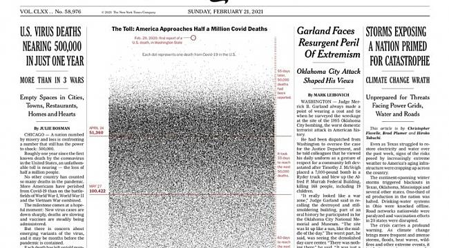 ABD'de Salgının Trajik Tablosu NYT'ta