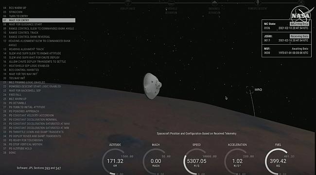 NASA'nın Perseverance Keşif Aracı Mars'a İndi