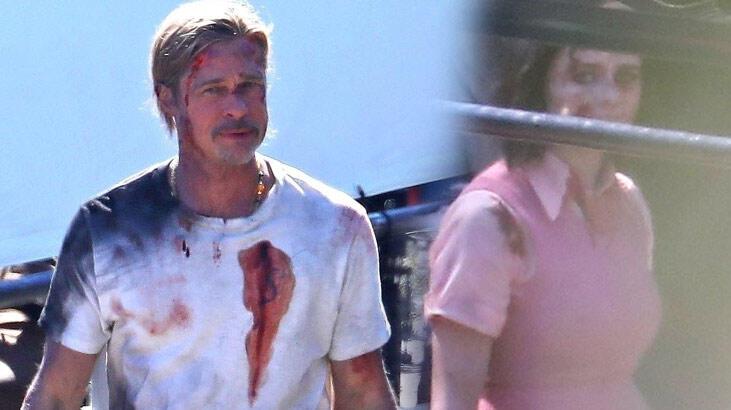 Brad Pitt kanlar içinde!