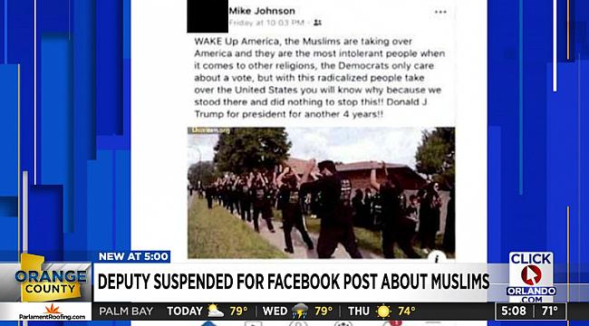 Orlando'da Şerif'ten Müslümanlara Nefret Söylemi