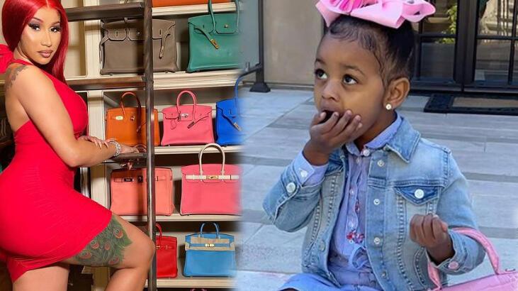 Cardi B'den iki yaşındaki kızına dudak uçuklatan h