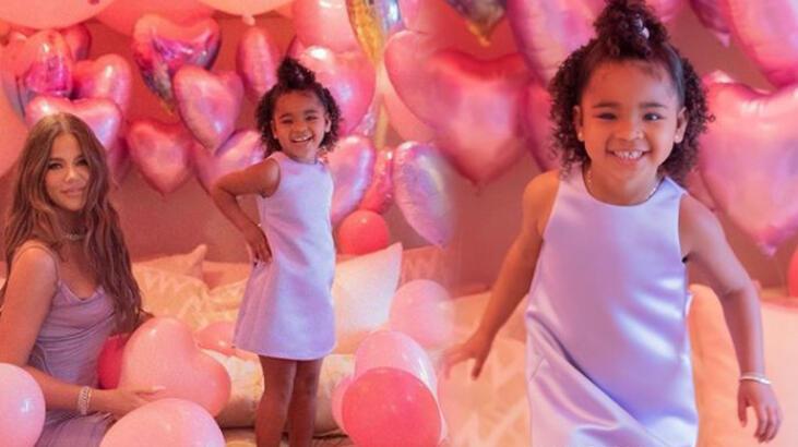 Khloe Kardashian'dan kızına gösterişli doğum günü