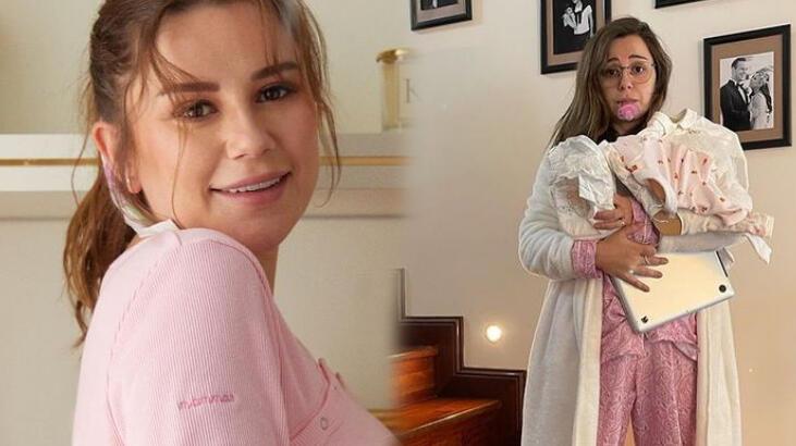 Merve Özbey, kızının yüzünü ilk kez paylaştı