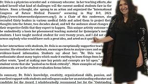 Prof. Bahar Uslu'ya En İyi Eğitimci Ödülü