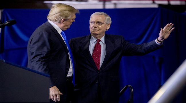 Still angry at McConnell, Trump calls for new Republican leader