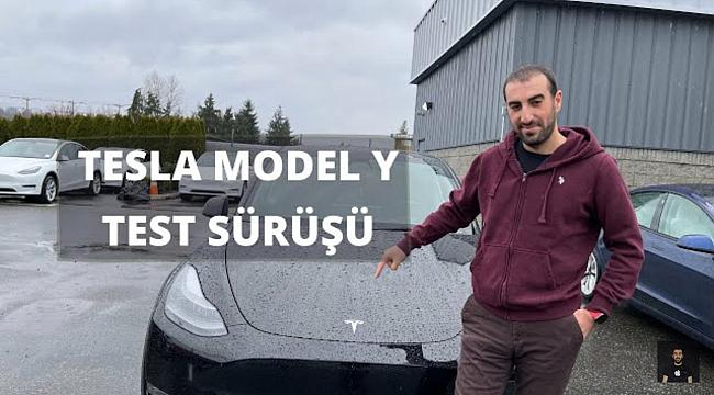 Tesla 'Model Y' Test Sürüşü