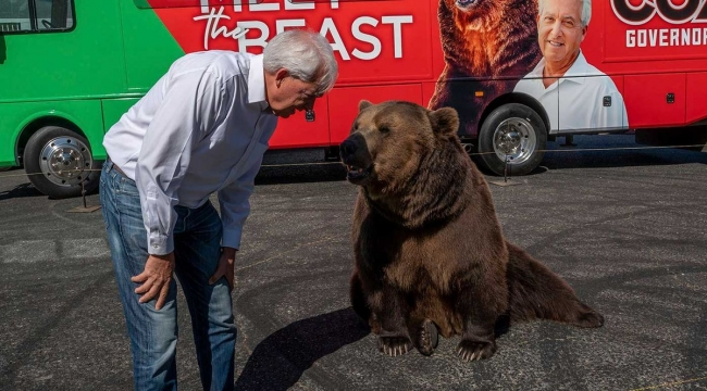 California politician brings a bear to compete against Caitlyn Jenner