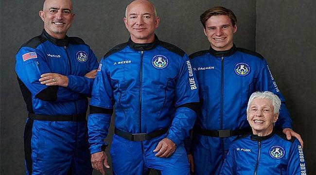 Jeff Bezos Pilotsuz Uzaya Giden İlk Kişi Oldu