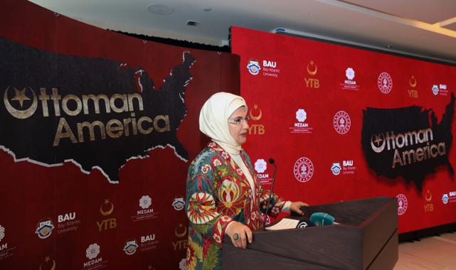Emine Erdoğan, 'Osmanlı'nın Amerika'sı' Belgesel Tanıtımındaydı