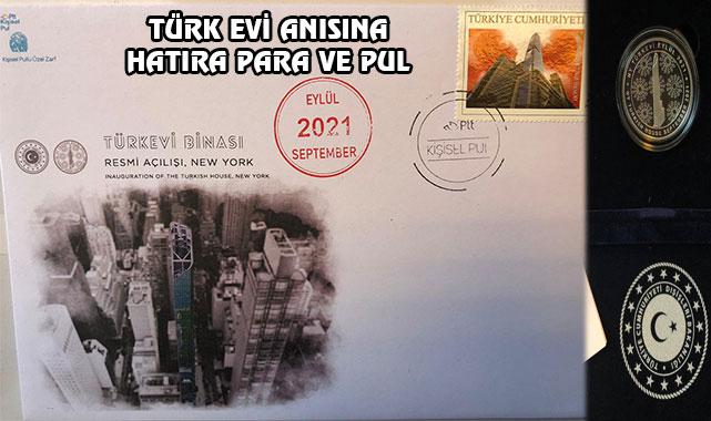 New York Türk Evi Anısına Hatıra Para ve Pul