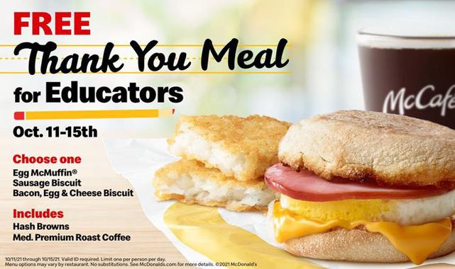 ABD'de McDonald's'tan Eğitimcilere Ücretsiz İkramlar
