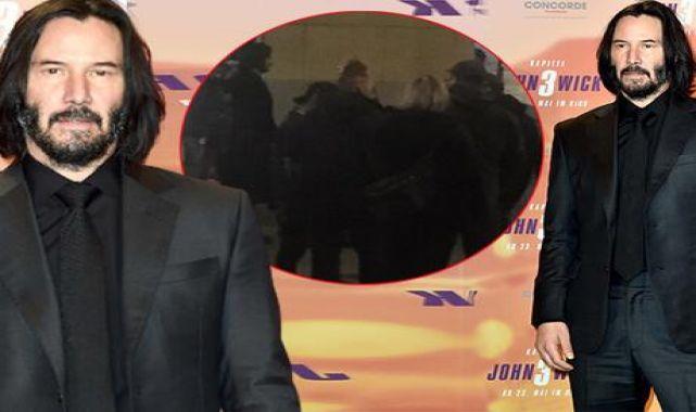 Keanu Reeves'ten dublör ekibine jest