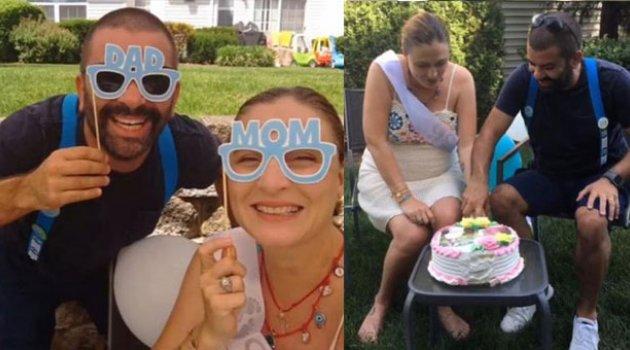 Amerika'da baby shower partisi yaptı