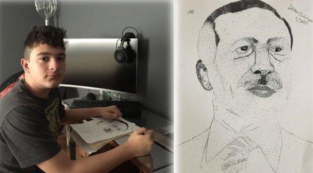 Erdoğan Sevgisini Sanatıyla Anlatıyor
