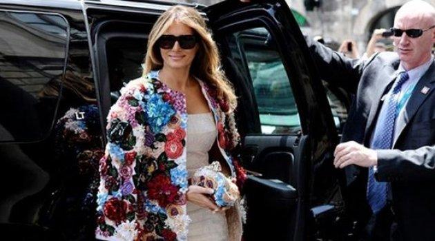 Melani Trump Mahsur Kaldı