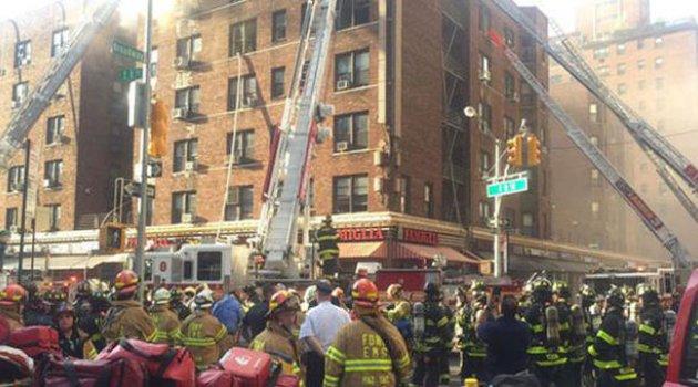 New York'ta korkutan yangın: Yaralılar var