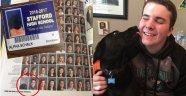 Bu köpeğin fotoğrafı okul yıllığında
